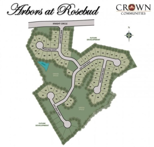Loganville GA Arbors At Rosebud Site Plan