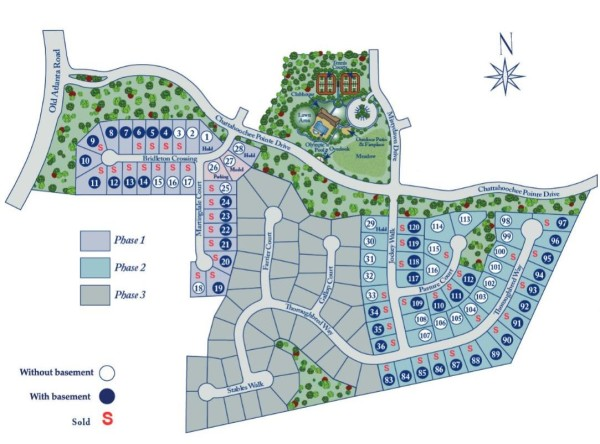 Suwanee Georgia Bridleton Heights Site Map
