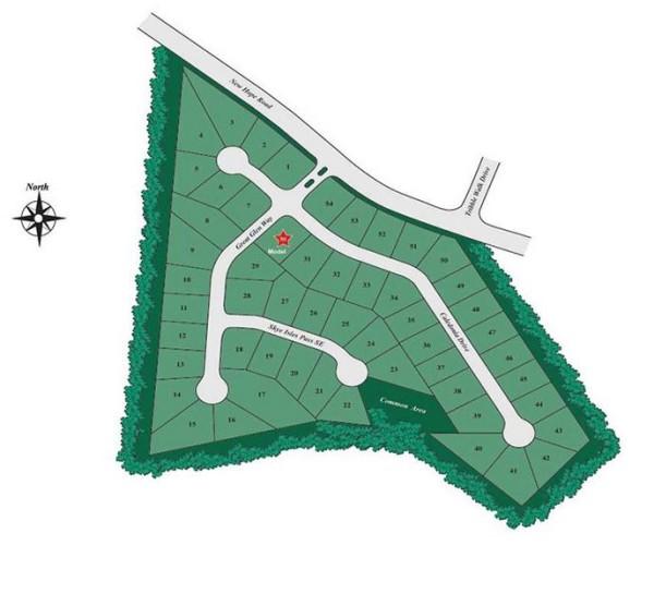 D.R. Horton Highland Manor Community Site Plan