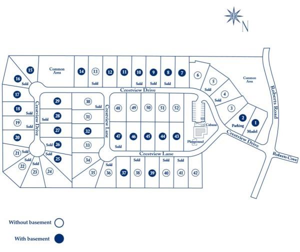 Suwanee Georgia Site Plan Roberts Crest Subdivision