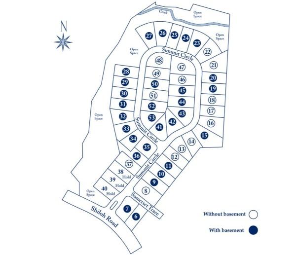 Alpharetta Homes In Summit At Shiloh Site Plan
