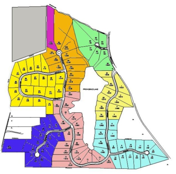 Milton GA Neighborhood Site Plan Providence Lake