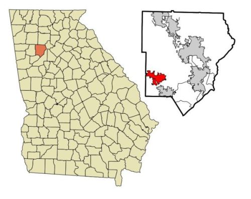 Map Location Of Powder Springs Georgia