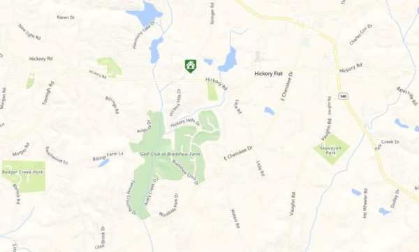 Map Location Cherokee County Cagel Heights