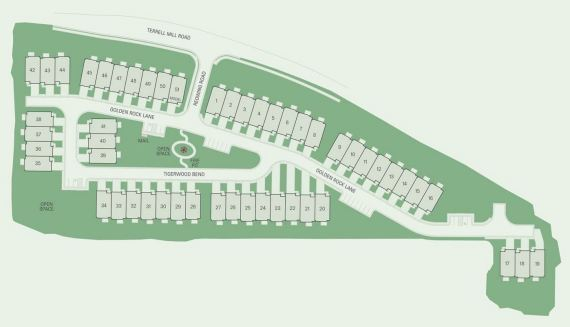 Site Plan Townhomes Ivy Crest