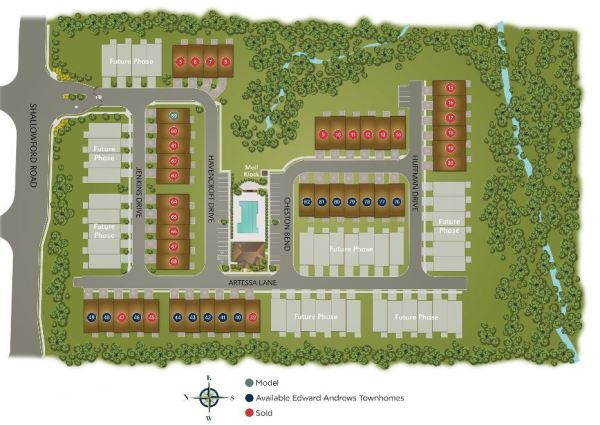 Havenridge Townhome Site Plan Roswell Georgia