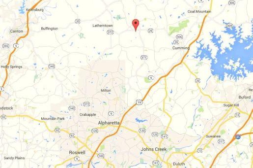 Cumming Georgia Map Evans Farm Location