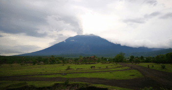 north bali reef conservation - mount agung calm down