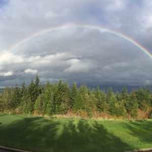 Snoquamie Ridge Golf rainbow