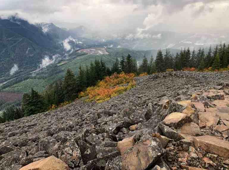 Mailbox Peak Autumn View Sep 23, 2018