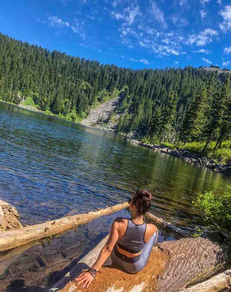 Relaxing at Mason Lake