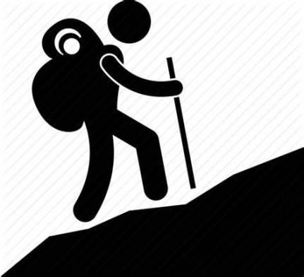 Mountain Hiking Icon