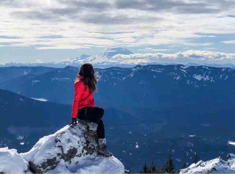 Mt Rainier from Mount Si Summit