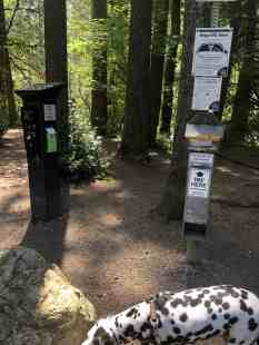 Twin Falls Trailhead Discover Pass Pay Station
