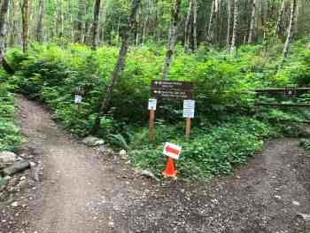 Rattlesnake Mountain - Split of Hiking and Biking Trails