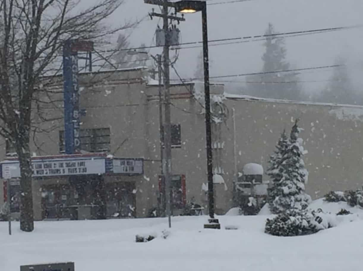 Front of North Bend Movie Theatre