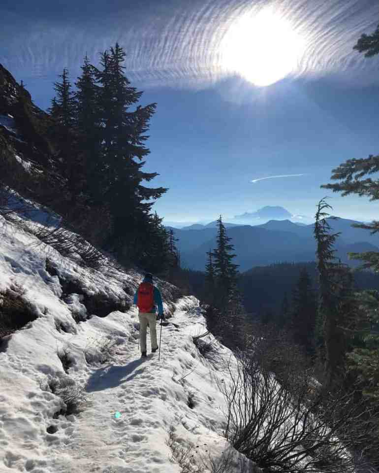 Winter on the Katwalk and Mt Rainier