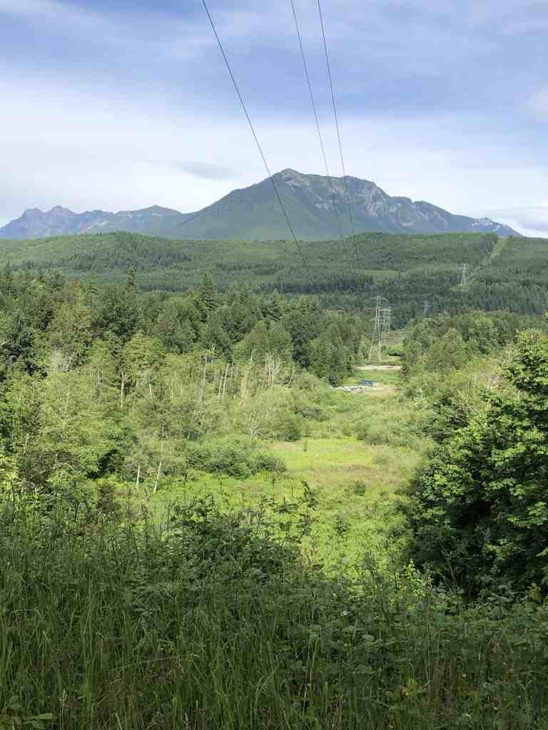 Powerline Crossing Looking East Towards Twin Falls Trailhead
