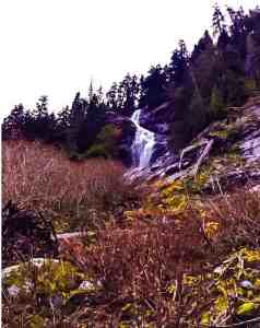 Waterfall along Katwalk portion of Pacific Crest Trail