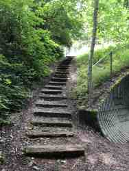 Steps up to Tokul Road