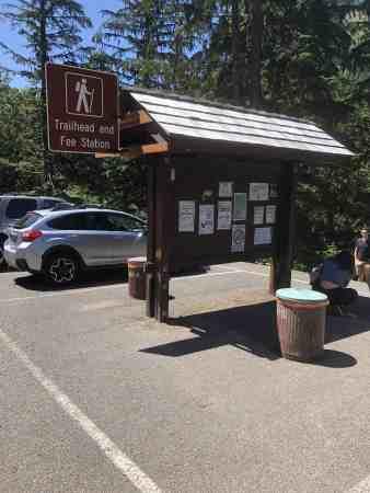 Franklin Falls Trailhead Parking Lot