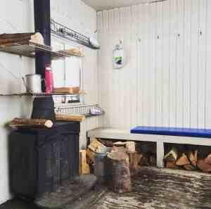 Inside the Warming Hut