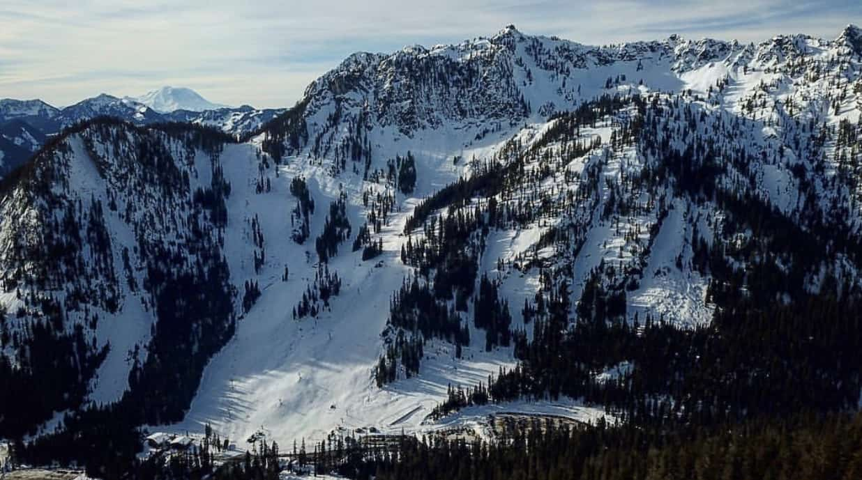 Drone View of Alpental Front Face