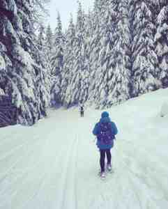 Snowshoeing on Snoqualmie Nordic Trails