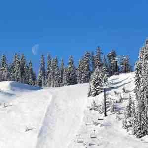 Moon Set over the Ridge