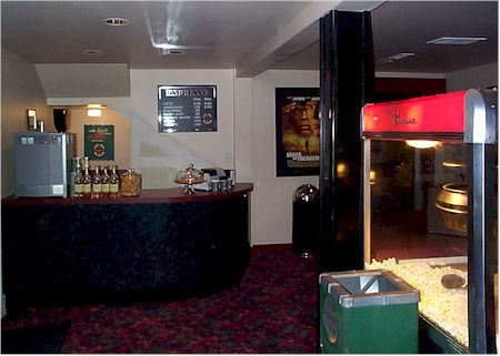 new lobby coffee bar and popcorn machine