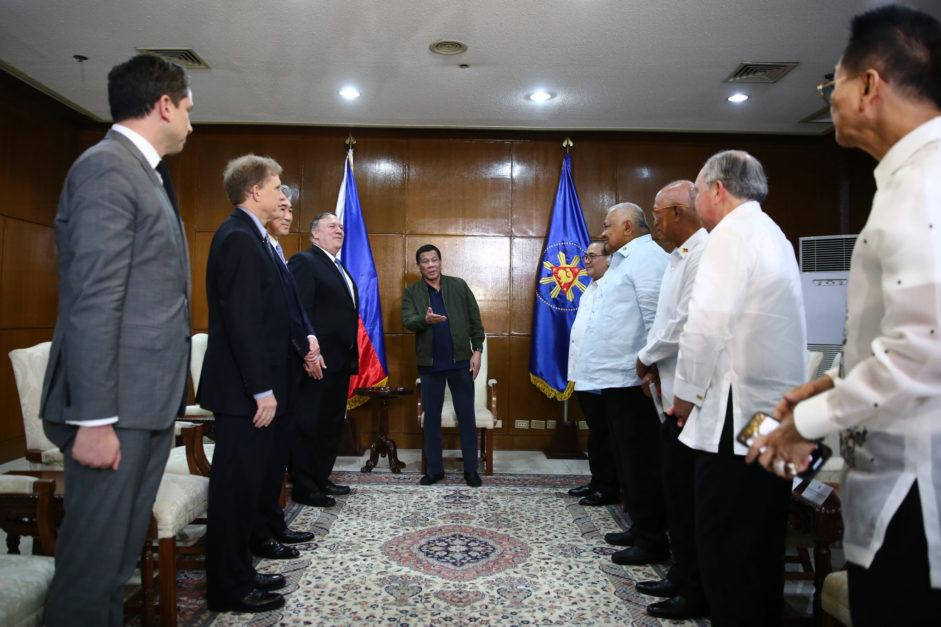 Duterte, Pompeo discuss reg'l security, counterterrorism