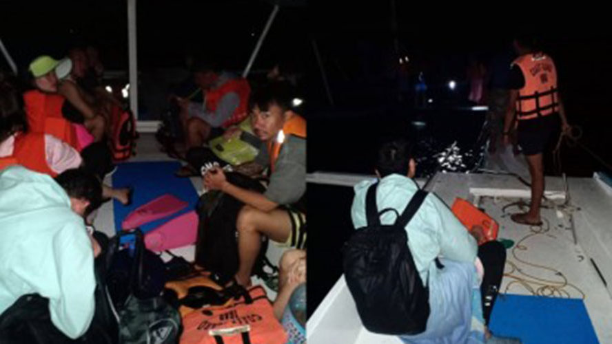 10 Chinese tourists rescued in Panglao, Bohol