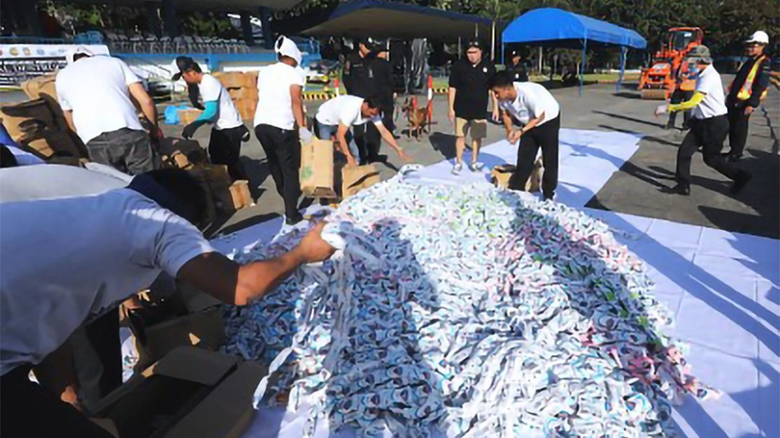 P80.2-M fake items destroyed in Camp Crame