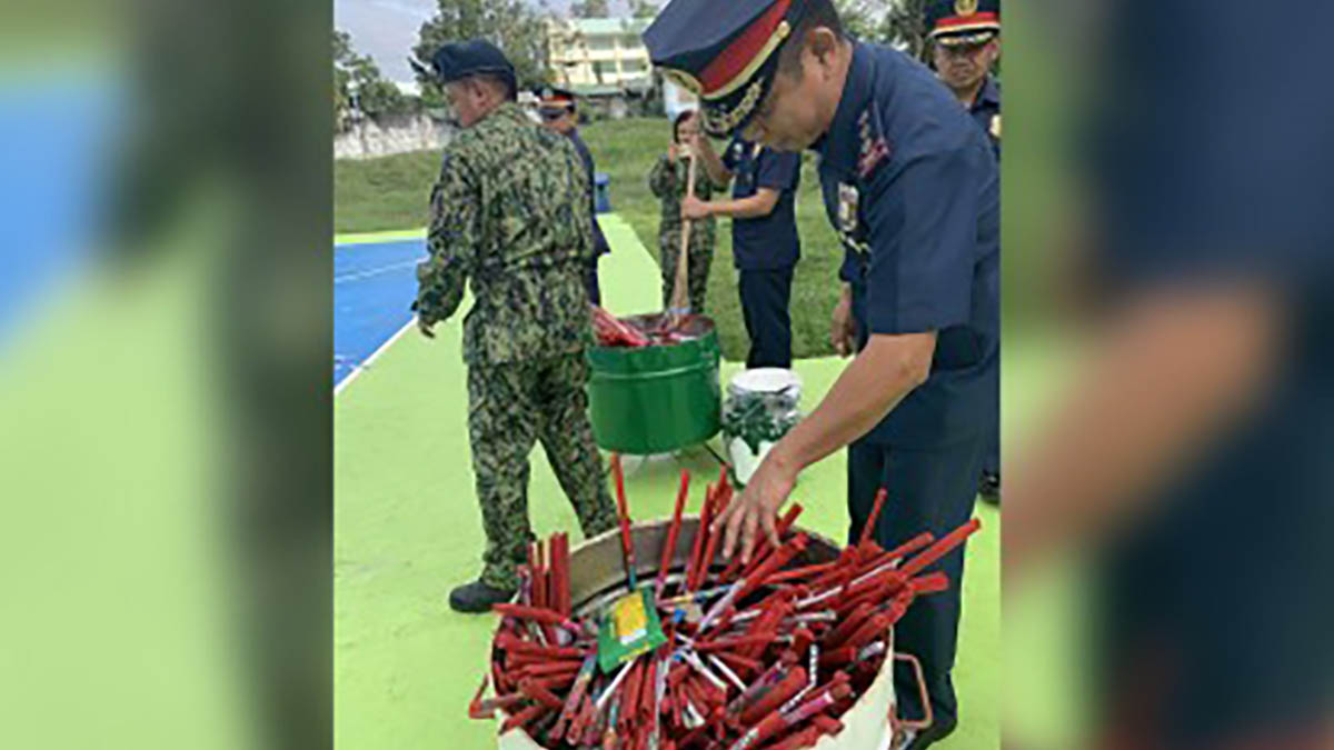 P15-K seized firecrackers destroyed in Isabela