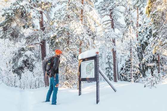Winter at north mountain, Sundsvall | Photo © Rania Rönntoft | Northbound Journeys | www.northboundjourneys.com