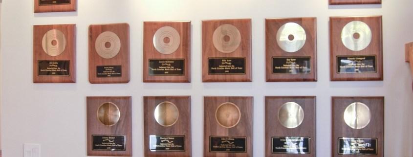 Inductee Award Wall
