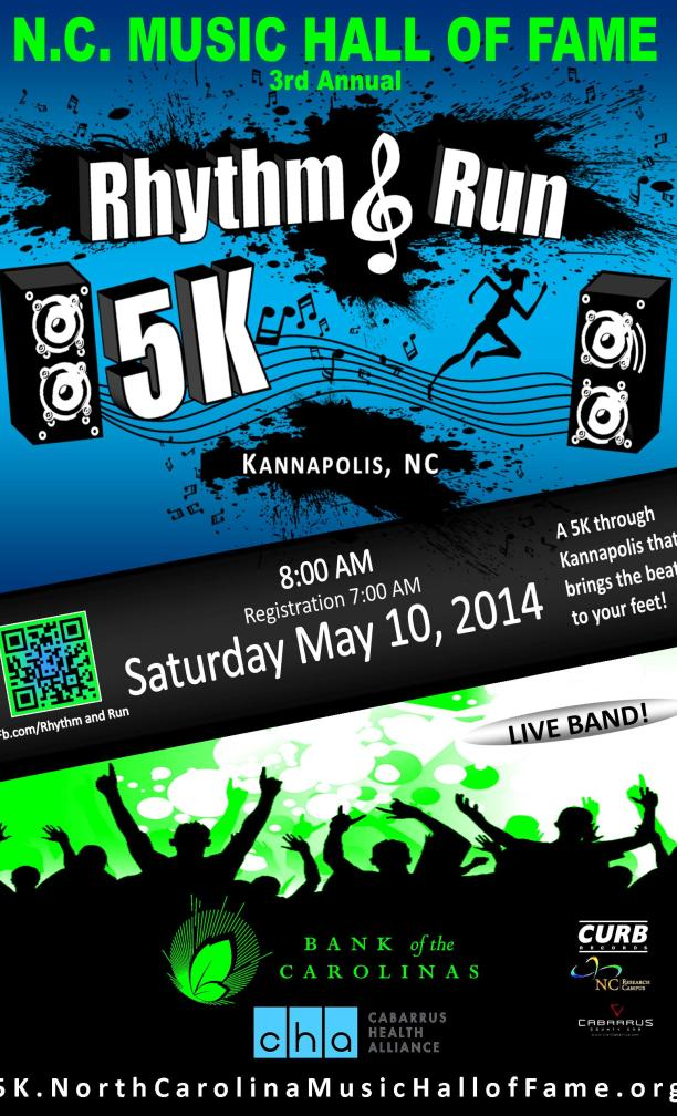 North Carolina Music Hall of Fame 5K RHYTHM & RUN
