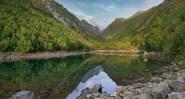 Baduk lake Dombay Karachay-Cherkessia Greater Caucasus mountains North Caucasus