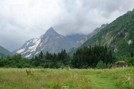 Dombay Russia Karachay-Cherkessia Greater Caucasus mountains North Caucasus