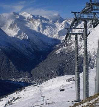 Dombay winter cabe car Karachay-Cherkessia North Caucasus Sochi Olympics 2014