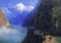 Roads to Gudauri 1868 Ivan Aivazovsky