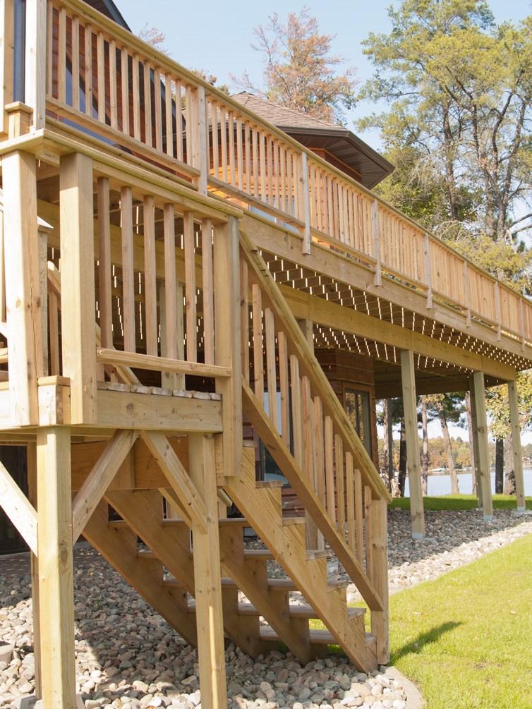 Xguard Pressure Treated Wood Cedar Creek Lumber   Pressure Treated Stair Railing