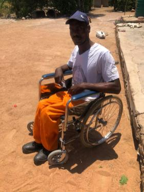 Our electric wheelchair beneficiary . This gentleman was critically injured whilst trying to help a small child who had fallen down the steps of a school bus. He was knocked over and paralyzed by a vehicle overtaking on the inside Vs in the correct manner. Unfortunately he will not be able to walk again but because of Rotary he will most certainly have a much improved quality of life going forward. You couldn't wish to meet a nicer person and so very deserving of whatever help we are in a position to offer