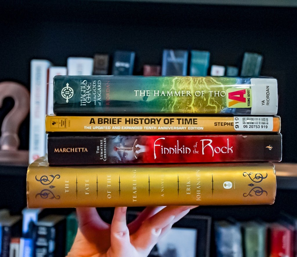 Image result for book pile tbr