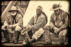 Fort Union Three buckskinners sepia vig sig