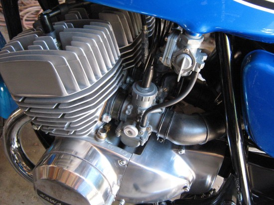 1972 Kawasaki H2 750 Engine Detail
