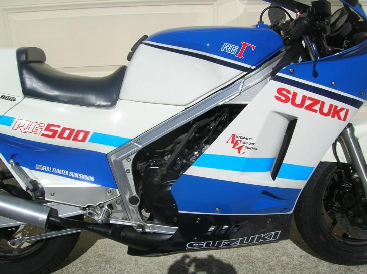 1986 Suzuki RG500 Gamma R Side Detail