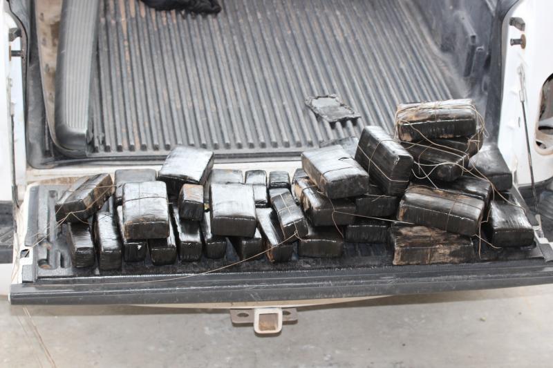 Marijuana filled bundles seized at the Presidio port