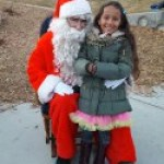 Santa on Tennyson Street