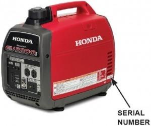 Picture of Honda 2000i generator